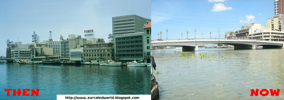 Pasig River Before And Now Pasig River Then And Now